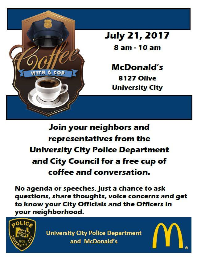 Coffee with a Cop - McDonald&#39s