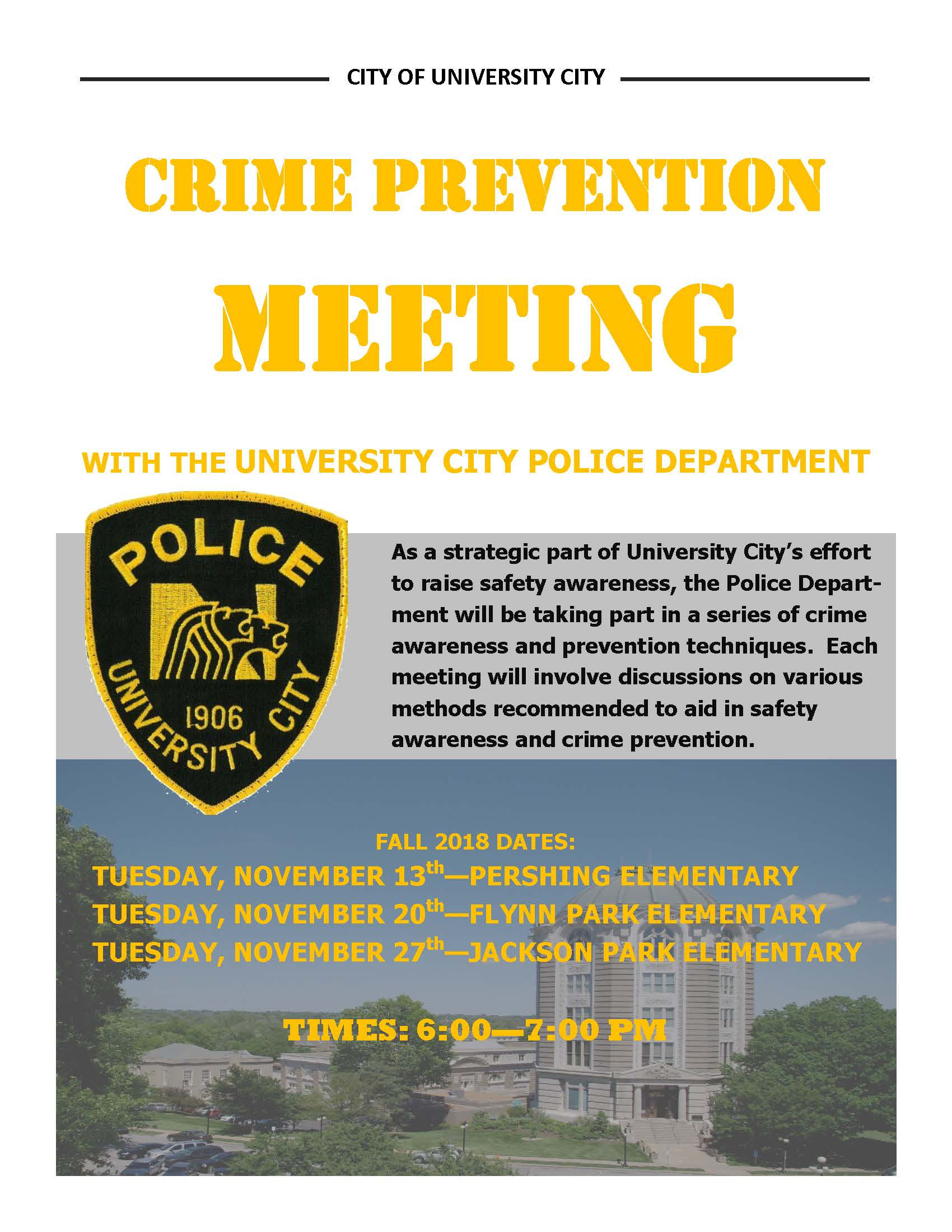 Crime Prevention Meetings (2018b)