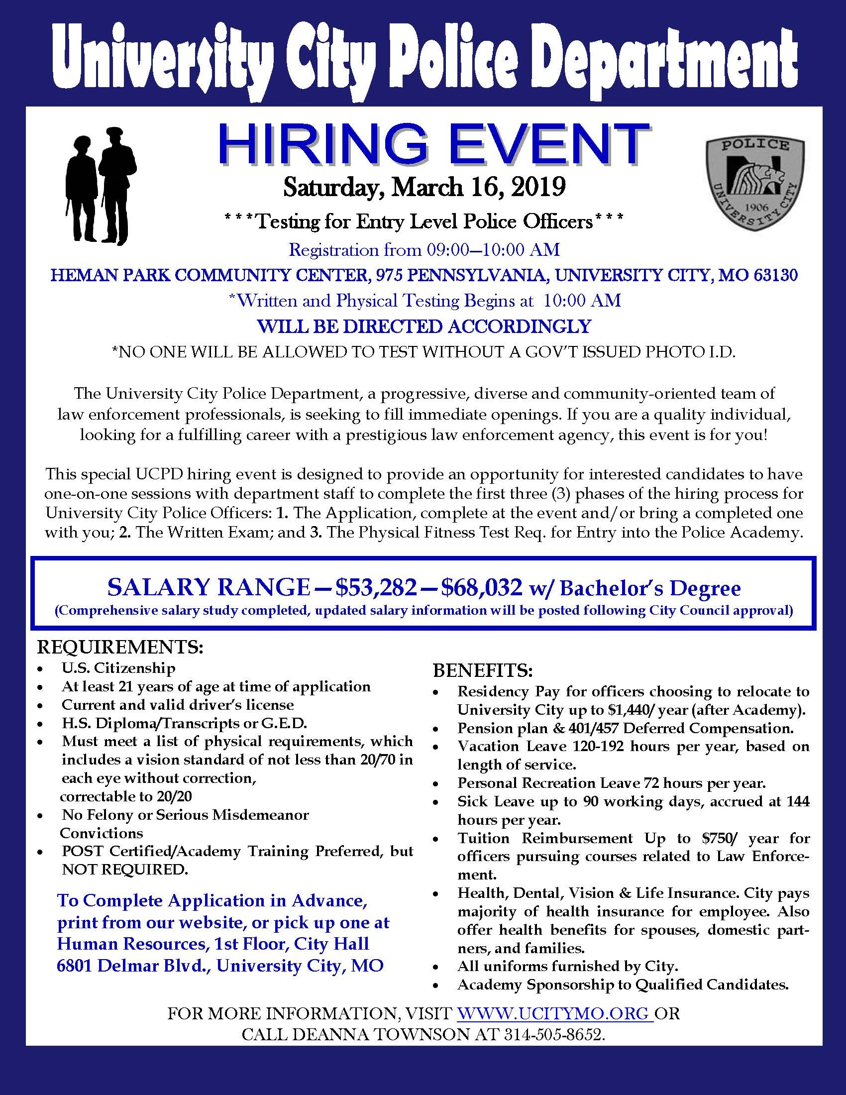 March 2019 - Hiring Event - Police Officers