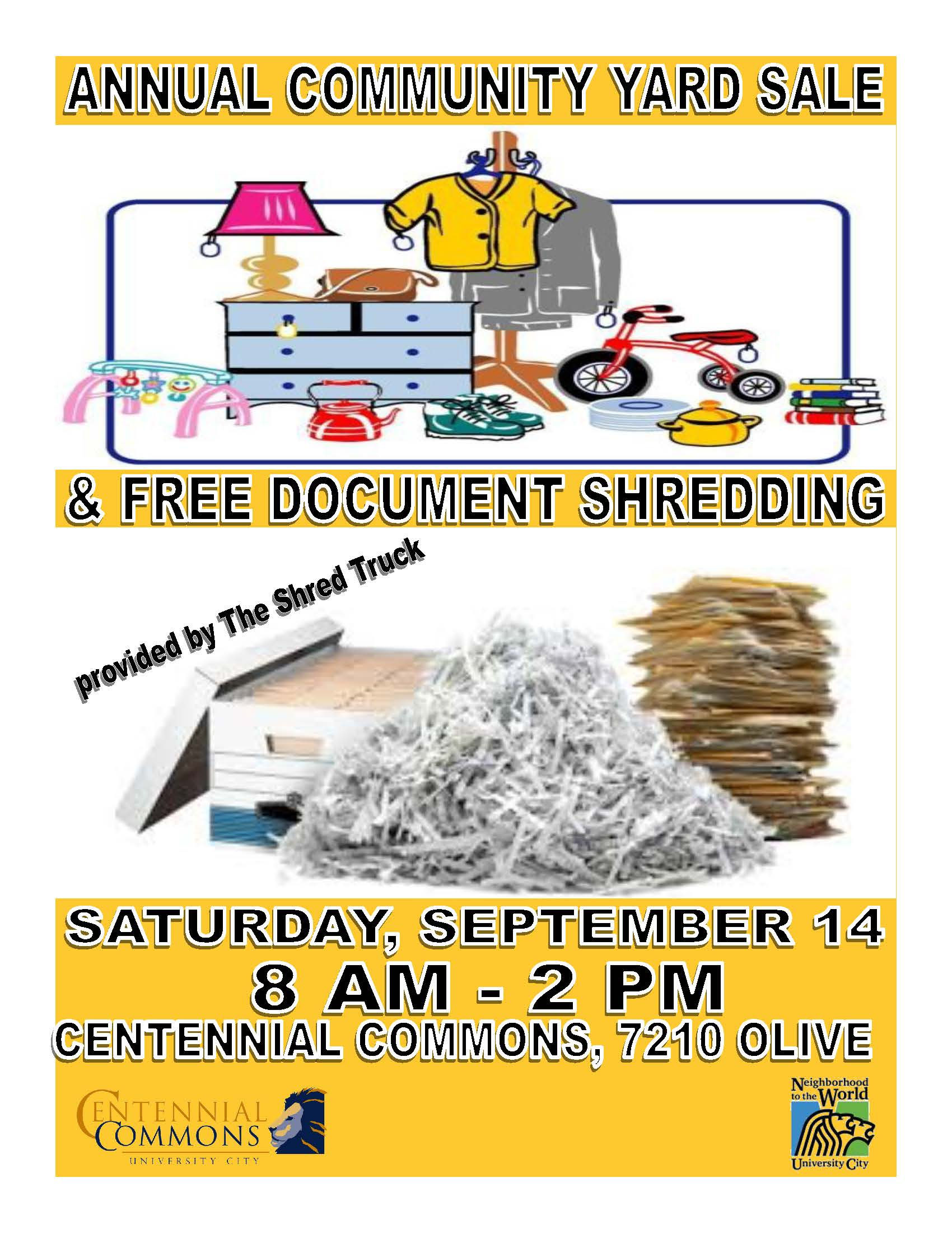 2019 yard sale-shred day poster 82119