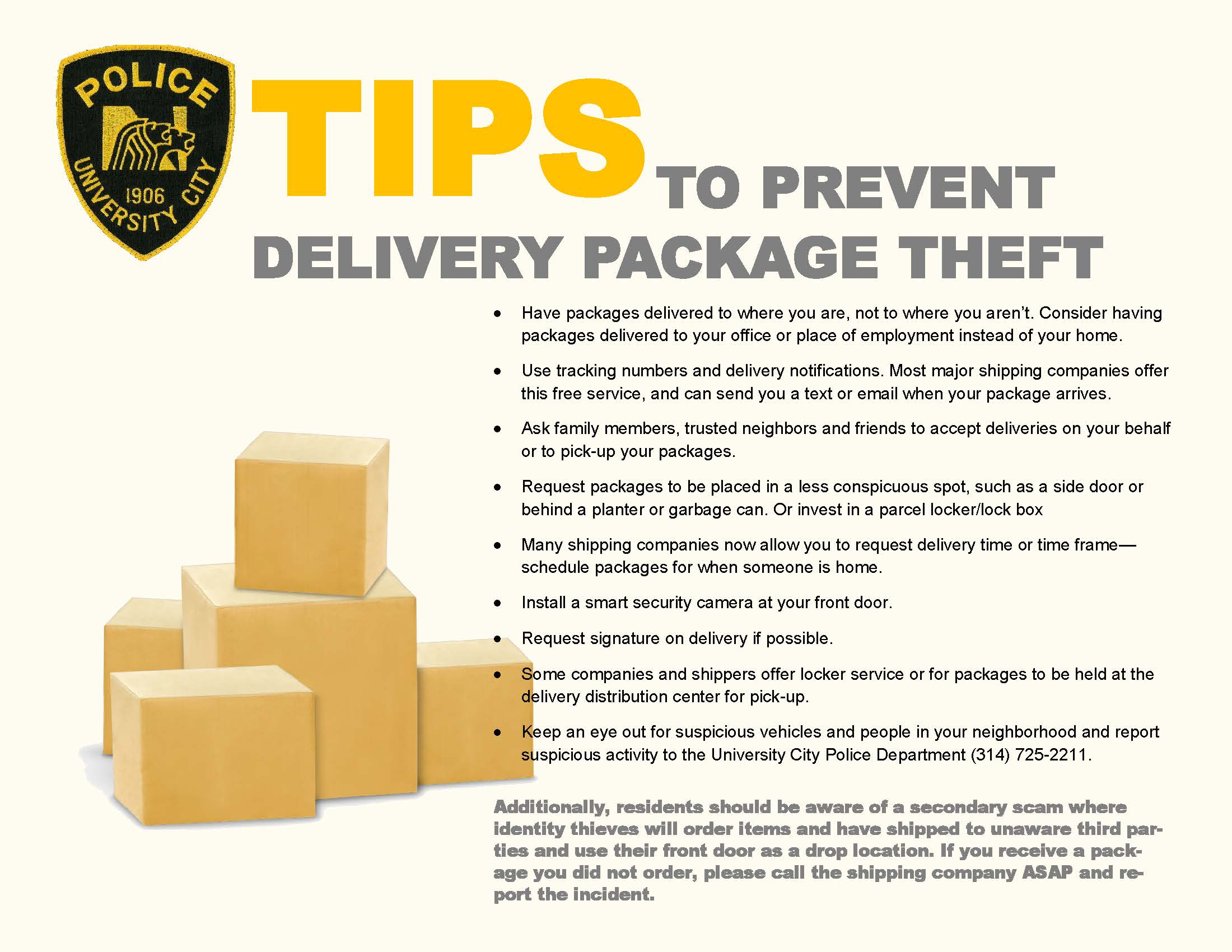 Prevent Delivery Package Theft